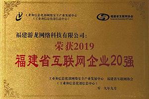 游龙网络蝉联2019年福建互联网企业20强